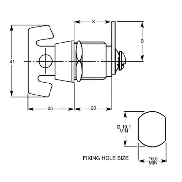 l u0026f 4421 camlock turn knob latch lock  4421