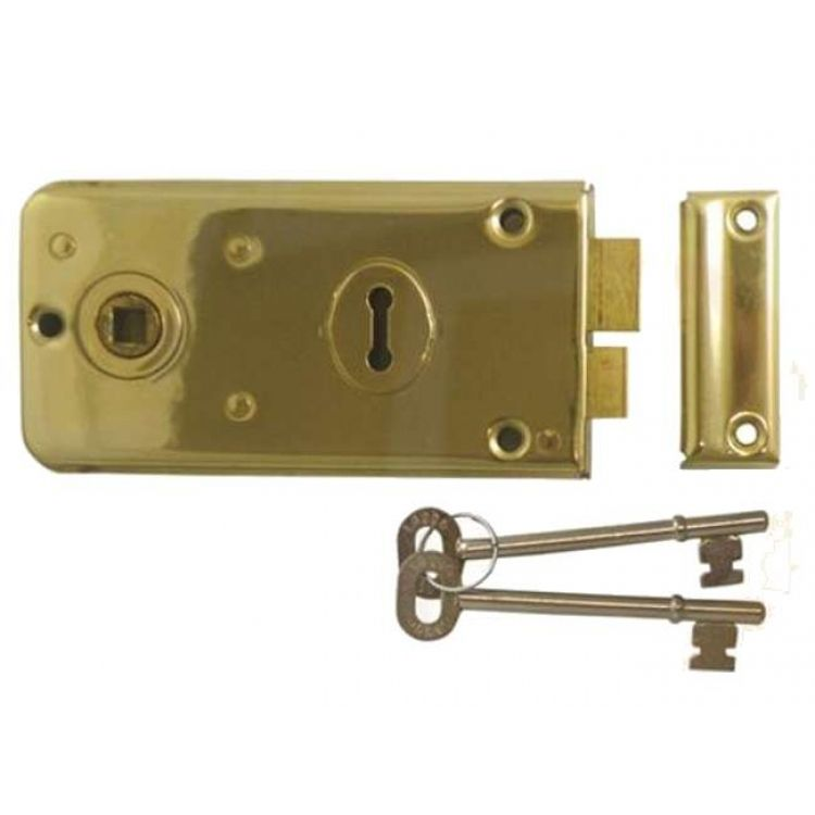 Legge 2 Bolt Rim Lock-Brass (2136)
