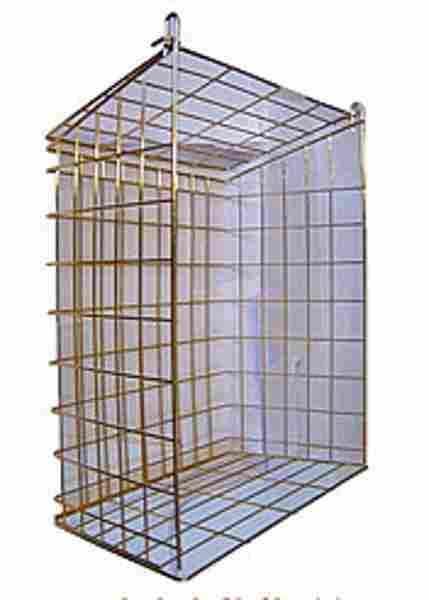 folding letter cage ideal if it hits the wall behind door