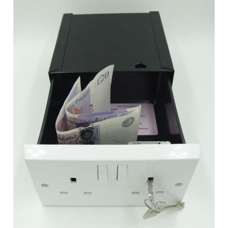 Secret Security Safe For Solid Walls-Socket Covert Safe