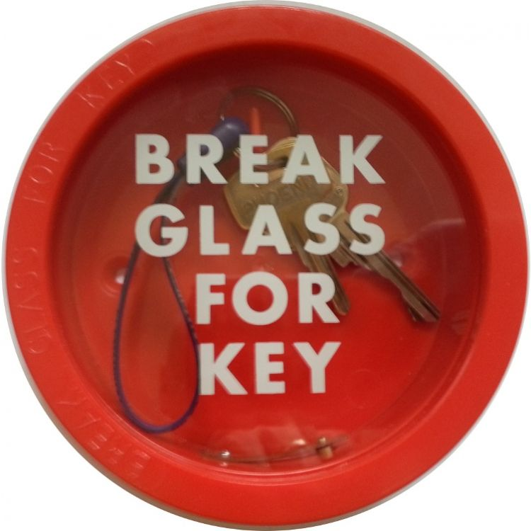 Break Glass Round Red Plastic Key Box Lockmonster Co Uk
