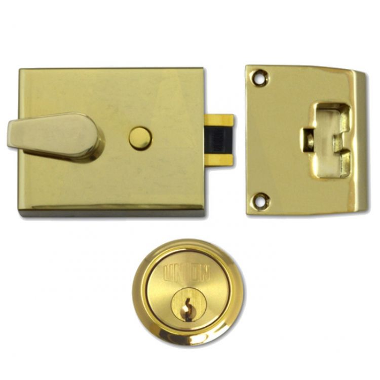 Union Auto Dead Locking Night Latch Brass Case (1038)