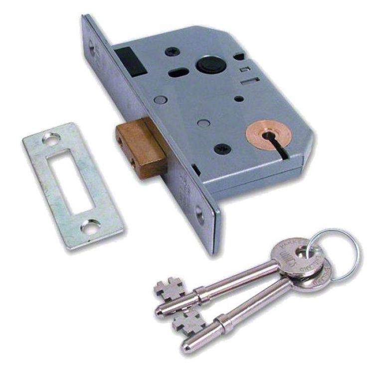Union Master keyed 3 Lever Mortice deadlock (2137) - LockMonster co uk