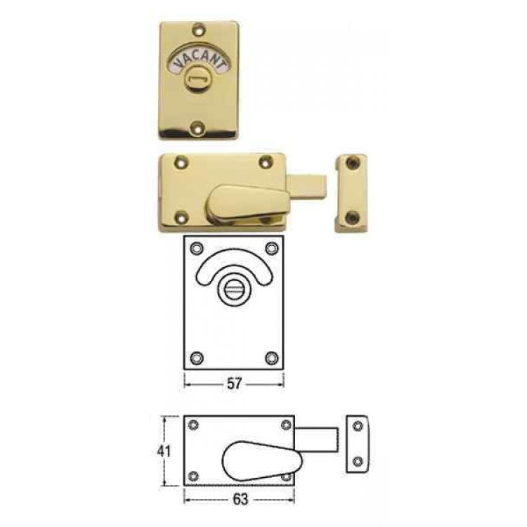 Magnificent Union Indicator Bolt Vacant Engaged Toilet Lock 8094 Interior Design Ideas Clesiryabchikinfo