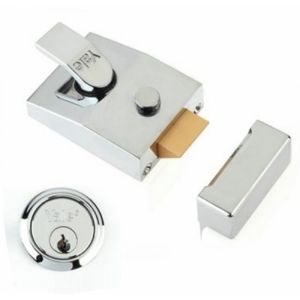 Yale Deadlocking Nightlatch Brass Case (85/89)