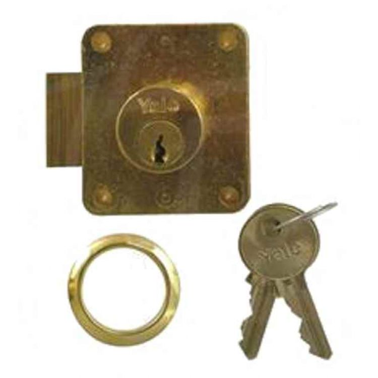 yale straight cylinder cupboard lock 076 076s. Black Bedroom Furniture Sets. Home Design Ideas