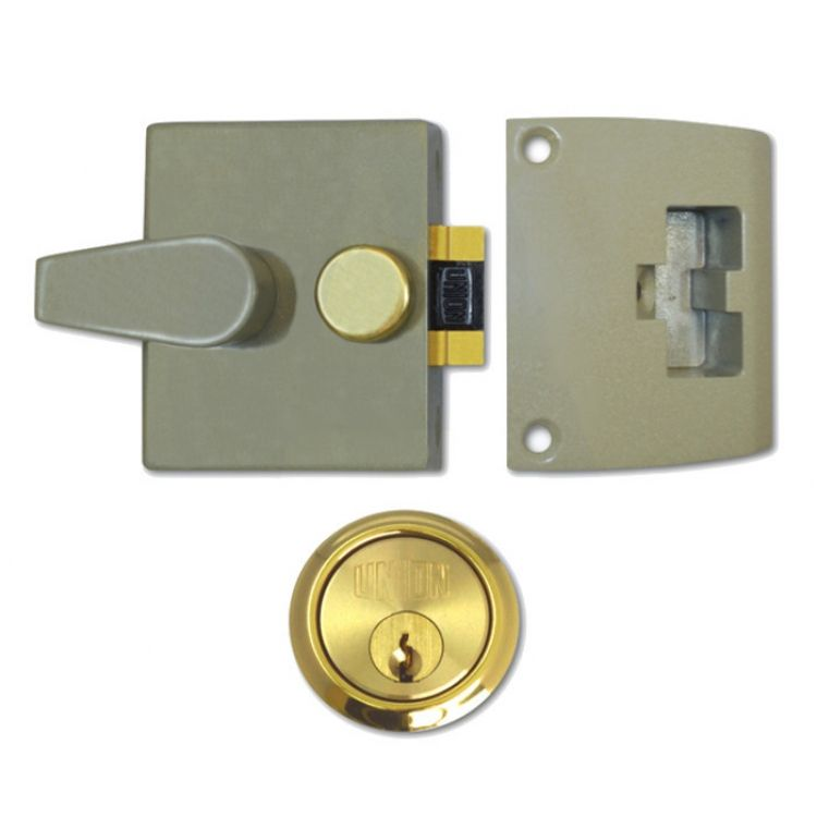 Union or Cylinder Night Latch Champagne (1037 1038)