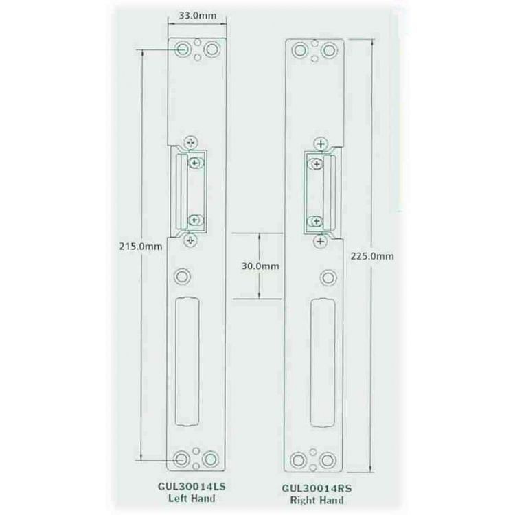 GU Door Strike Keep Plate For Latch and Deadbolt Upvc Doors