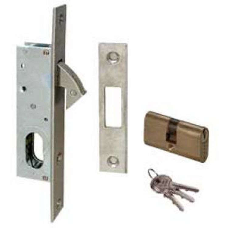 Cisa Sliding Door Hook Bolt Lock Case With Cylinder