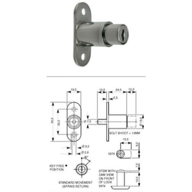 L Amp F Push Lock Sliding Door Lock 5862 Lockmonster Co Uk