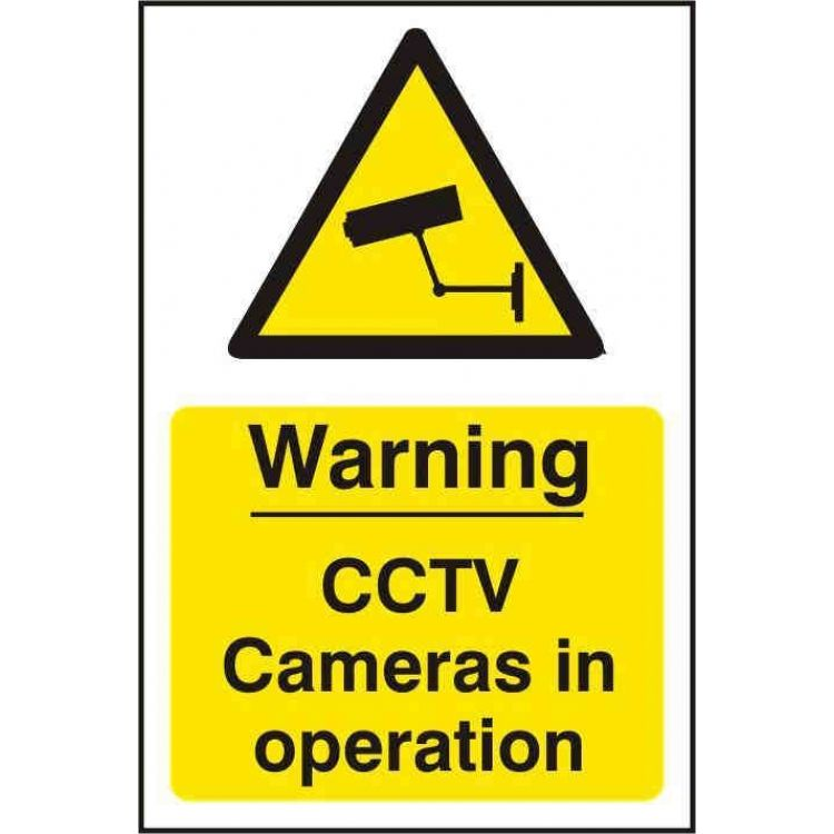 Warning Cctv Cameras In Operation Sign Lockmonster Co Uk