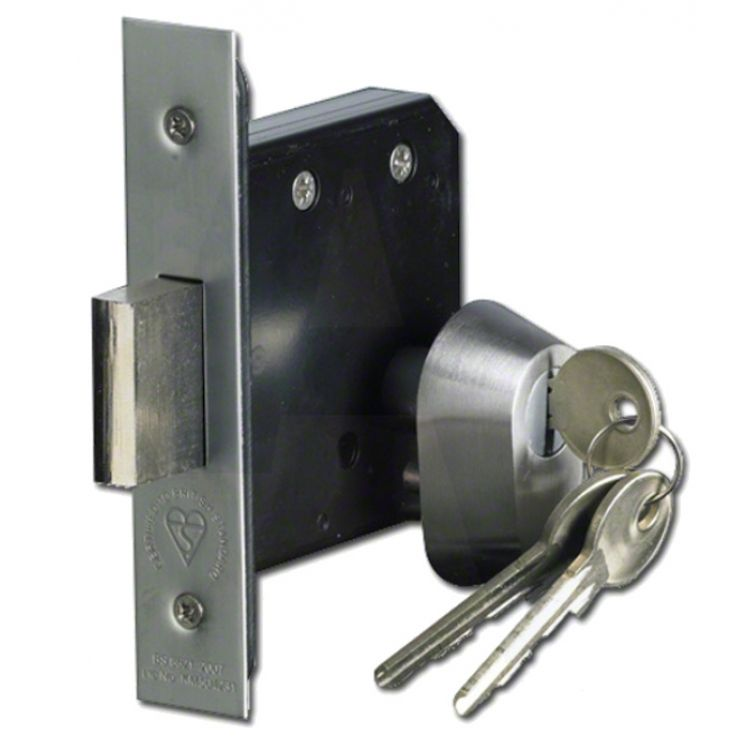 Double Euro Mortice Deadlock to British Standards BS3621:2007