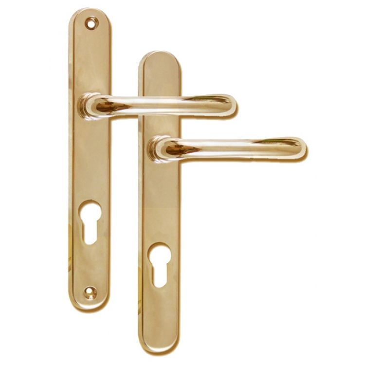 Sienna pz lever upvc door handles screw fixing mm
