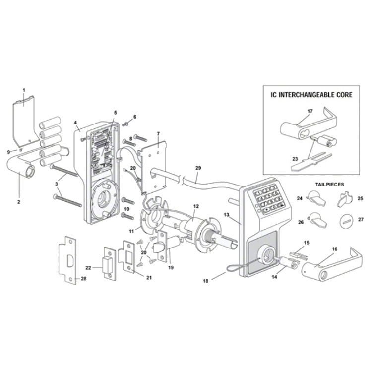 trilogy alarm lock dl2700wp battery operated digital lock