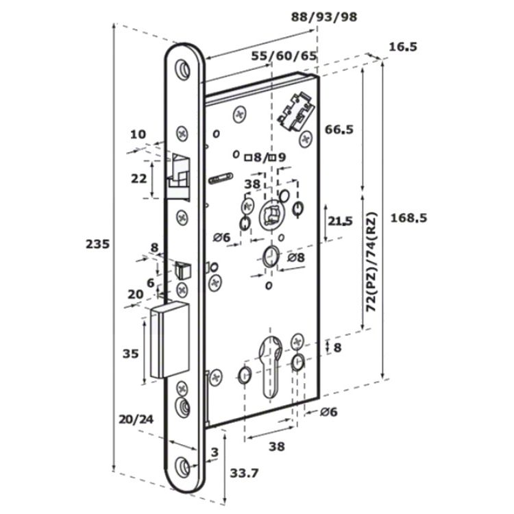 Abloy El560 Electric Lock Deadbolt And Anti Friction Bolt