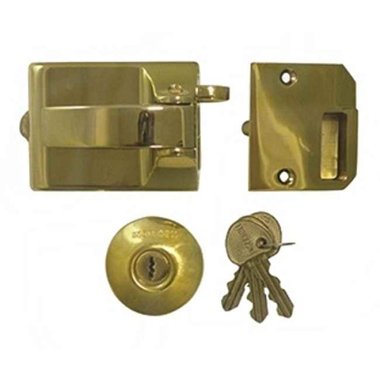 front door locksIngersoll SC71 Brass Cylinder Rim Front Door Lock  LockMonstercouk