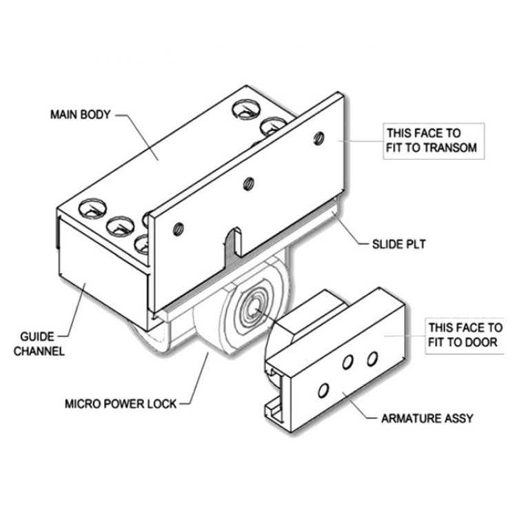 Asec Micro Power Lock With Sdgi Bracket Open Out on door access control with camera