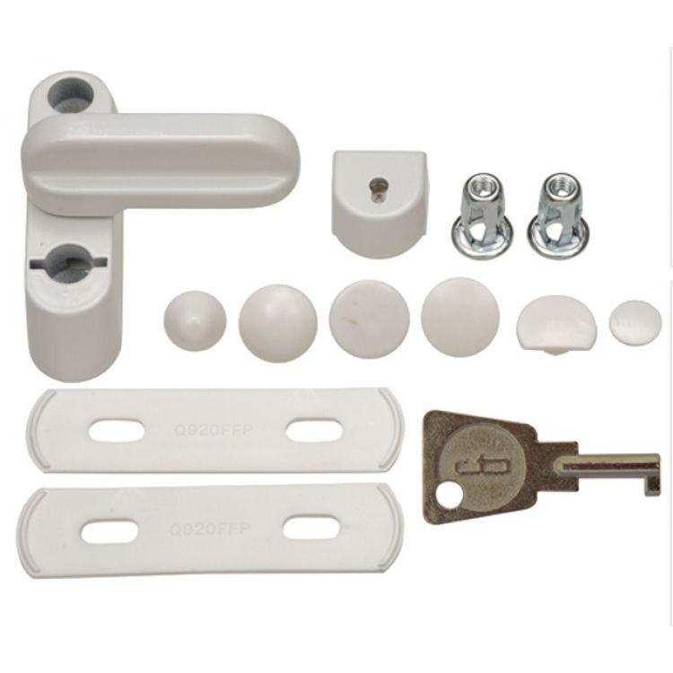 10 x Fab And Fix Sash Jammer White Locking Window Lock