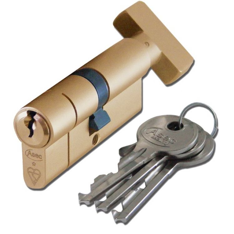 Euro Key & Turn Cylinder BSi 1 Star Kitemarked