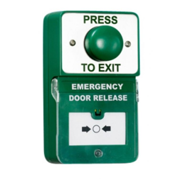 Dual Unit Combined Exit Button and Call Point