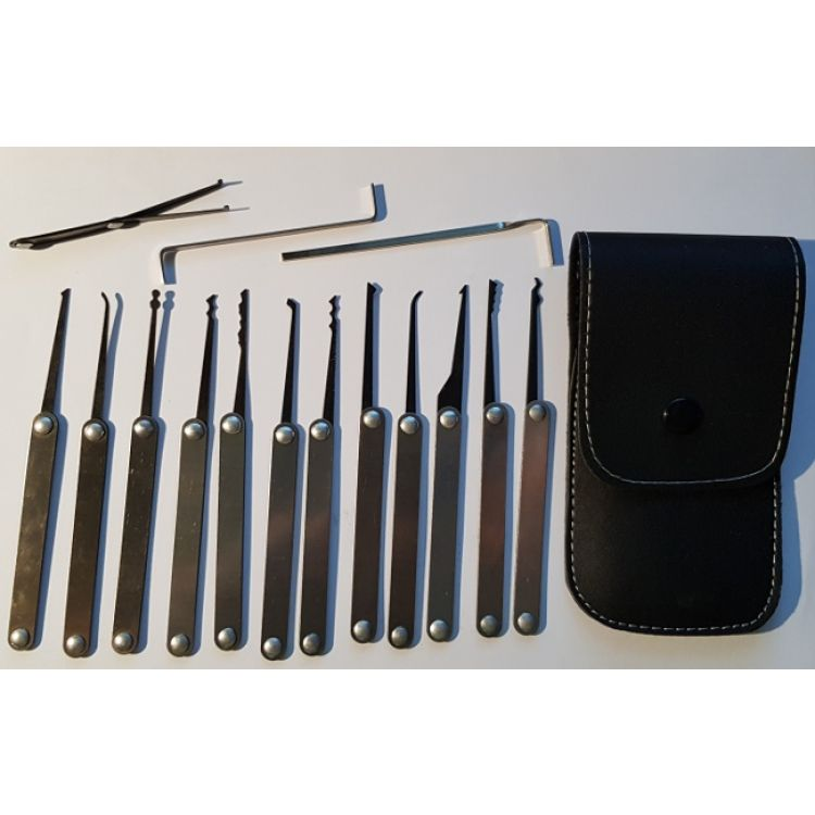 Yale Style Lock Picking Set 15 Piece Padlock Picks