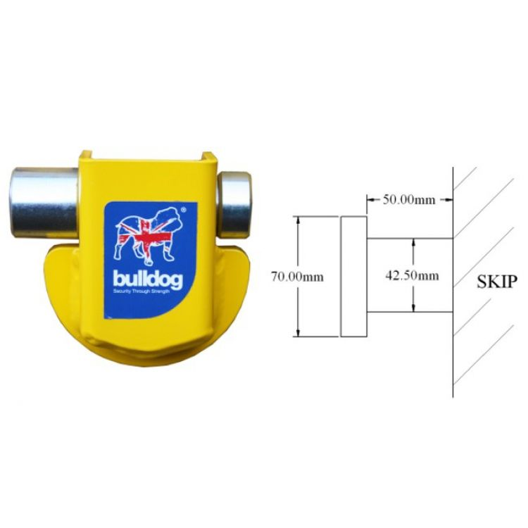 Bulldog Skip Lock for Skips with lifting lugs