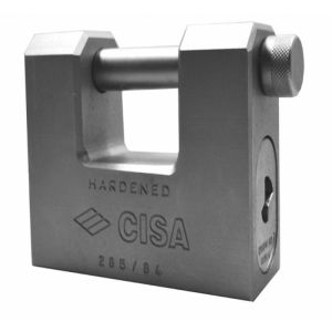 CISA 28550 LIM Steel Sliding Shackle Padlock 66mm to 84mm