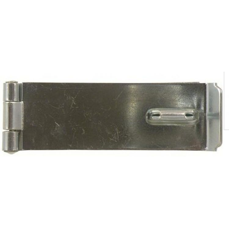 10 x 6 inch 150 mm hasp and staple zinc plated